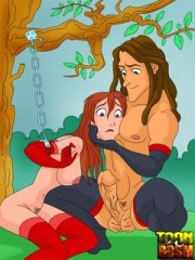 Dominant mistress forces her male slave submit to her