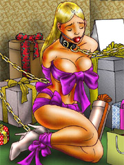 Slave girl received huge meat in her tight ass hole!