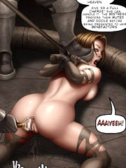 Alluring art babes dominate, humiliate and punishe their male sex slaves