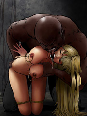 Yeah! scream as much as you like, slave! it turns me on!